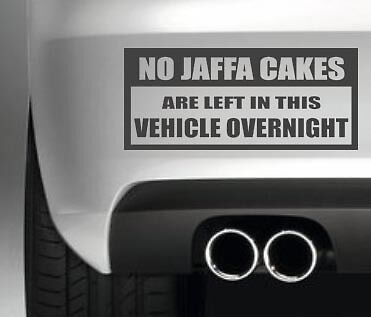 NO JAFFA CAKES CAR BUMPER STICKER FUNNY DRIFT JDM WALL ART DECAL