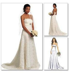 wedding dress patterns ebay