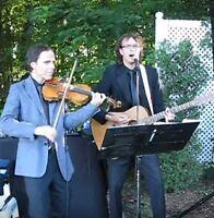 Duo François et Rocky (violon guitare voix) musiciens Montréal