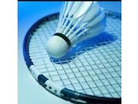 Racket stringing badminton
