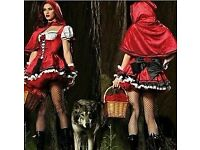 SEXY LITTLE RED RIDING HOOD FANCY DRESS GREAT FOR PARTY / HEN DO OR HALLOWEEN SIZE 8/10