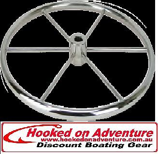 Steering Highly Polished Stainless Steel Flat Wheels 750 mm diameter