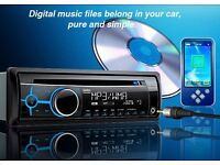 Clarion CZ102E CD/MP3 Car stereo MP3 WMA FRONT AUX-IN RADIO BLUE