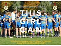 Want to play women's rugby, Play ladies rugby in Coventry, Leamington, Nuneaton and Stratford