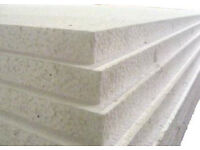 7x WHITE POLYSTYRENE SHEETS EPS70 INSULATION/PACKAGING 2400mm x 1200mm x 25mm