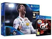 *Sealed With Receipt* PlayStation 4 Slim & FIFA 18 & Gran Tourismo & Knowledge is Power