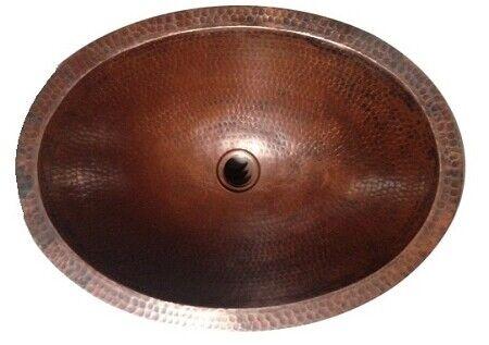 Copper Oval Under Mount Sink