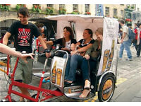 Pedicab driver job, RICKSHAW RIDERS WANTED POSITIONS AVAILABLE NOW, weekend work