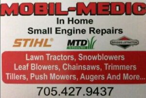 Mobil-Medic. Snowblower, Lawn Mower, and Small Engine Repairs.