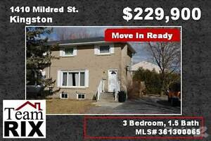 Homes for Sale in Kingston West, Kingston, Ontario $229,900