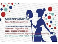 MASTERSPARKLE ..Domestic Cleaning Staff Available 8 POUNDS PER HOUR .Excellent service