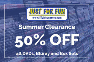 SUMMER MOVIE BLOWOUT SALE 50% OFF ALL DVDs & BLU RAYs
