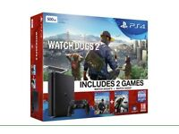 PS4 Slim Watchdogs Edition & 2 Extra Games