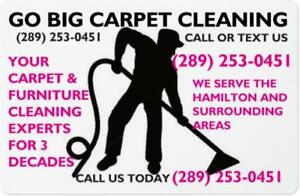 5 FREE SPOT REMOVAL TREATMENTS CALL GO BIG CARPET CLEANING TODAY