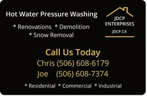 HOT WATER PRESSURE WASHING