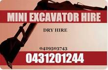 Mini Excavator Dry Hire $250 Per Day Cedar Vale Logan Area Preview