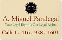 WANT SUE OR BEING SUE - CALL A. MIGUEL PALEGAL 416 9281601