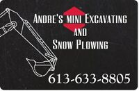 André's Mini Excavating & Snow Plowing