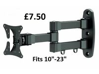 "New 10"" - 23"" Brateck High Quality TV Wall Bracket."