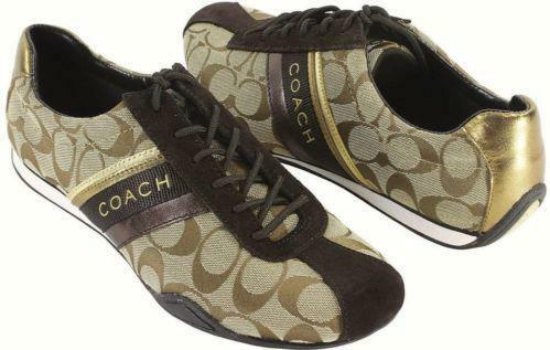 brown coach tennis shoes ebay