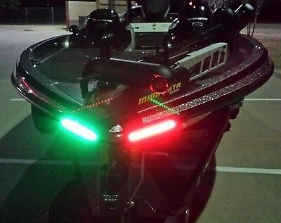 Boat Bow Led Lighting Red   Green   8  Strips Fully Submersible