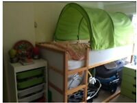 Ikea reversible bed with canopy
