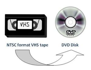 Convert VHS video tapes (NTSC or PAL format) to DVD
