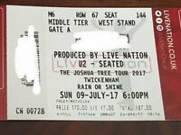 U2 TICKET ONE ONLY SUNDAY 9TH JULY BLK M6 - BRILLIANT LOCATION - IN HAND