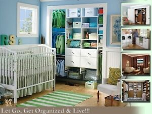 Organizing, decluttering for home or home office