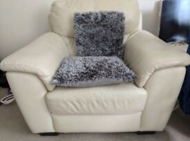 Leather Sofa chair. Extremely comfortable and good quality to go immediately