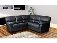 New Candy leather corner sofa Black and brown
