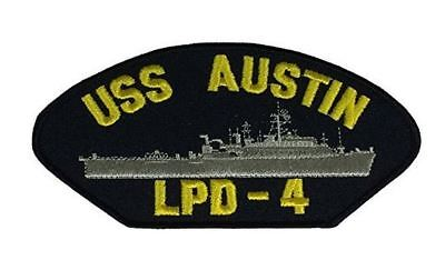USS AUSTIN LPD-4 PATCH USN NAVY SHIP AMPHIBIOUS TRANSPORT SEAPOWER MOBILITY
