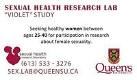 HEALTHY WOMEN WANTED FOR QUEEN'S UNIVERSITY STUDY