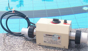 Electric pool heater ebay for Electric swimming pool heaters