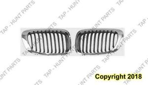 Grille Passenger Side Chrome Coupe/Convertible BMW 3-Series (E46) 1999-2006