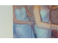 2x bridesmaids dresses pale blue