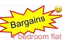 Bargain 1 bedroom flat to let