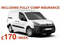 SMALL VAN AVAILABLE TO RENT/ HIRE/COURIER 17 PLATE / CITROEN BERLINGO / VW CADDY / FORD COURIER