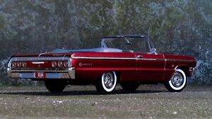 Seeking nostalgia - Candy apple red 1964 Impala convertible