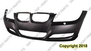 Bumper Front Without Sensor Hole With Headlamp Wash Hole Primed Sedan/Wagon CAPA BMW 3-Series 2009-2011