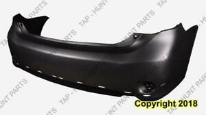 Bumper Rear Primed S/Xrs Models With Spoiler Hole Usa Built CAPA Toyota Corolla 2009-2010