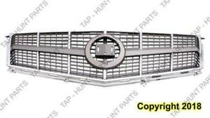 Grille With Chrome Moulding Fwd Cadillac SRX 2010-2012