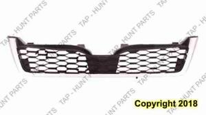 Grille Matt Dark Gray With Chrome Moulding 2.0L Turbo (Bumper Mounted) Subaru Forester 2014-2016
