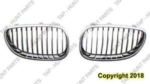 Grille Chrome/Black Driver Side BMW 5-Series (E60) 2004-2010