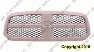 Grille Matt-Black With Gray Frame 1500 Dodge Ram 2013-2015