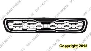 Grille Black Withchrome Moulding Kia Soul 2012