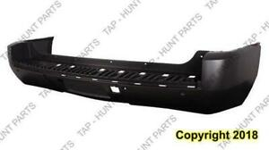Bumper Rear Primed Denali/Ltz With Sensor Hole CAPA Cadillac Escalade 2007-2014