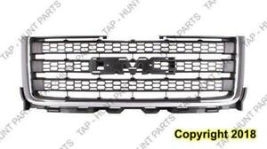 Grille Matt-Dk Gray With Chrome Moulding 2500/3500 GMC Sierra 2011-2014
