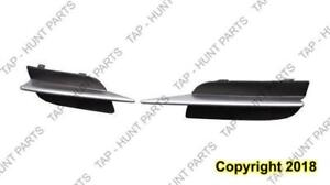 Fog Lamp Cover Driver Side Matt-Black Partial Ptd-Silver Coupe Honda Civic 2009-2011