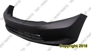 Bumper Front Primed Without Fog Light Sedan Fit All Dx/Hf And North America Built Lx Model CAPA Honda Civic 2012